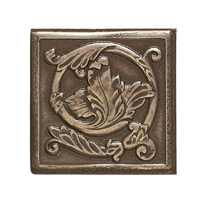 "Mohawk Flooring Artistic Accent Statements Metal 2"" x 2"" Scrolling Leaf Decorative Corner/Insert in Vintage Bronze"
