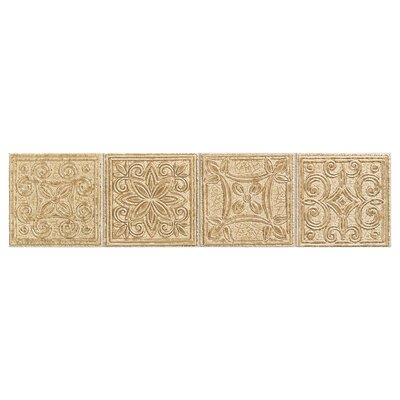 "Mohawk Flooring Natural Bella Rocca 12"" x 3"" Decorative Border in Etruscan Gold"
