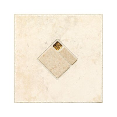 "Mohawk Flooring Natural Bucaro 6-1/2"" x 6-1/2"" Decorative Wall Insert in Bianco"