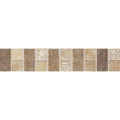 "Mohawk Flooring Natural Monticino 13"" x 2-1/2"" Decorative Listello in Beige/Noce"