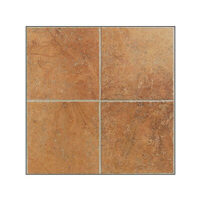 Egyptian Stone Floor Tile in Luxor Red