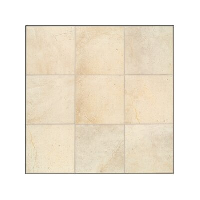 "Mohawk Flooring Sardara 18"" x 12"" Floor Tile in Fortress Cream"