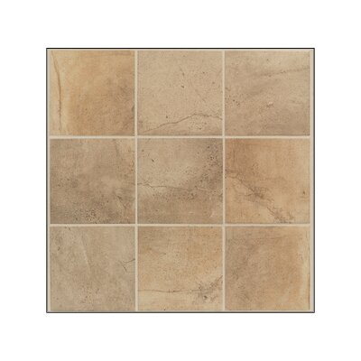 "Mohawk Flooring Sardara 6"" x 6"" Floor Tile in Island Brown"