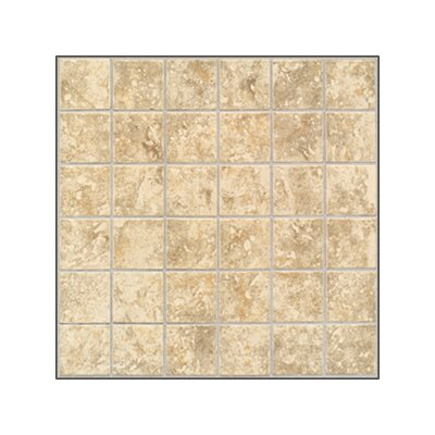 "Mohawk Flooring Rustic Steppington 2"" x 2"" Mosaic Floor Tile in Traditional Taupe"