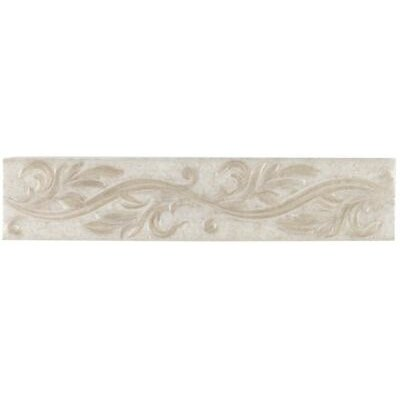 "Mohawk Flooring Natural Pavin Stone 14"" x 3"" Decorative Accent Strip in Gray Flannel"