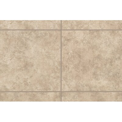 "Mohawk Flooring Natural Bella Rocca 9"" x 3"" Bullnose Tile Trim in Roman Beige"