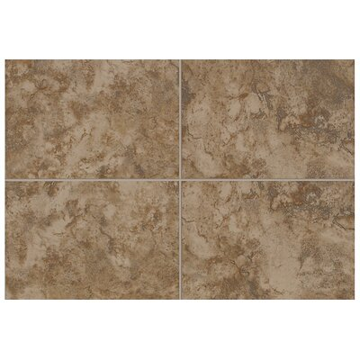"Mohawk Flooring Pavin Stone 10"" x 3"" Bullnose Tile Trim in Brown Suede"