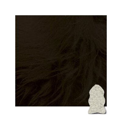 Bowron Sheepskin Black Gold Star Longwool Rug