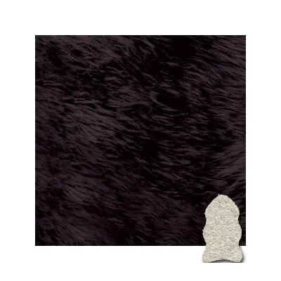 Bowron Sheepskin Chocolate Gold Star Longwool Rug