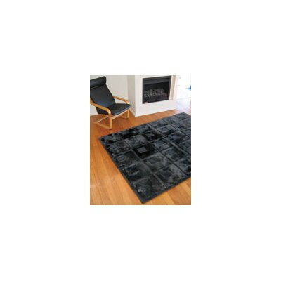 Bowron Sheepskin Rugs Shortwool Orbit Black Design Rug