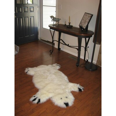 Bowron Sheepskin Designer Bear Animal Rug