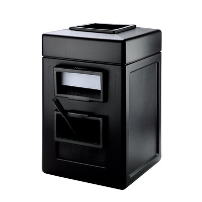 Commercial Zone Square Windshield Center Waste Bin