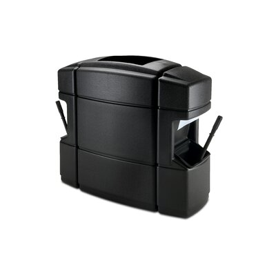 Commercial Zone 35 Gallon Double Sided Island Convenience Center in Black