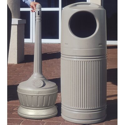 Commercial Zone Standard LitterMate Trash and Cigarette Receptacle Combo