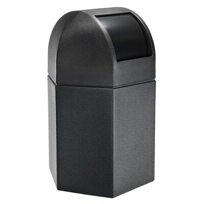 Commercial Zone 45 Gallon Hex Waste Container with Dome Lid