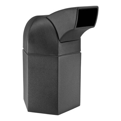 Commercial Zone 45-Gallon Hex Waste Container with Drive-Through Lid