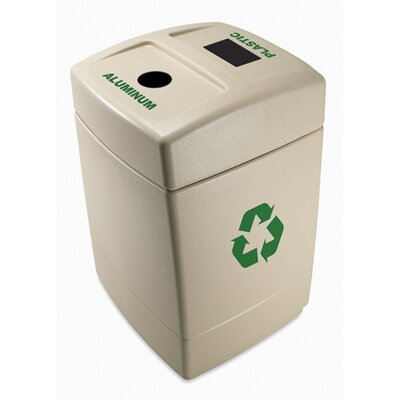 Commercial Zone 55 Gallon Recycling Waste Container with Lid Options