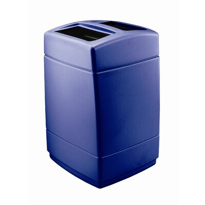 Commercial Zone PolyTec Square 55 Gallon Multi Compartment Recycling Bin