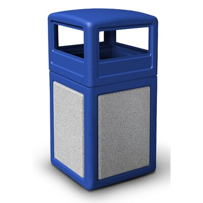 Commercial Zone StoneTec Dome Lid Trash Bin