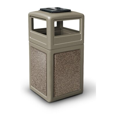 Commercial Zone 38-Gallon StoneTec Panel with Ashtray Dome Lid