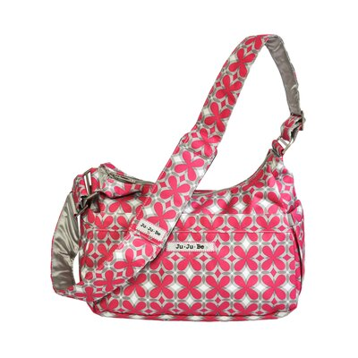 Ju Ju Be Hobo Be Messenger Diaper Bag in Pink Pinwheels