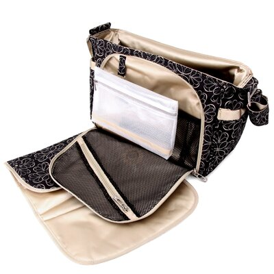 Ju Ju Be Be All Messenger Diaper Bag in Licorice Twirl