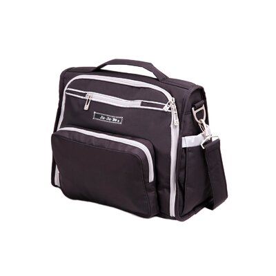 Ju Ju Be BFF Messenger / Backpack Diaper Bag in BlackSilver