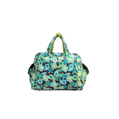Be Prepared Messenger Diaper Bag in Drip Drops