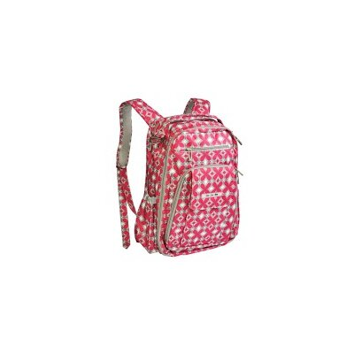 Ju Ju Be Be Right Back Backpack Diaper Bag in Pink Pinwheels