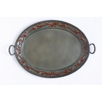 Old Dutch International Art Nouveau Oval Serving Tray