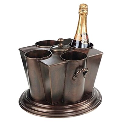Antique Embossed 4 Bottle Wine Chiller