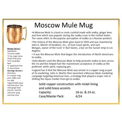 Old Dutch International 16 oz Moscow Mule Mug (Set of 4)