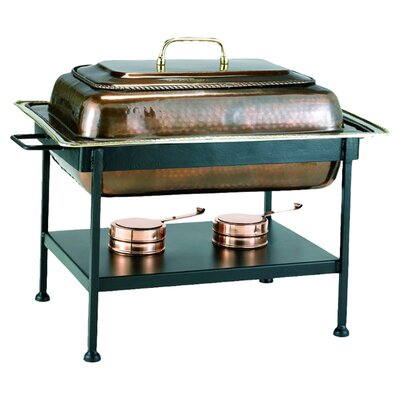 <strong>Old Dutch International</strong> Rectangular Antique Copper Chafing Dish
