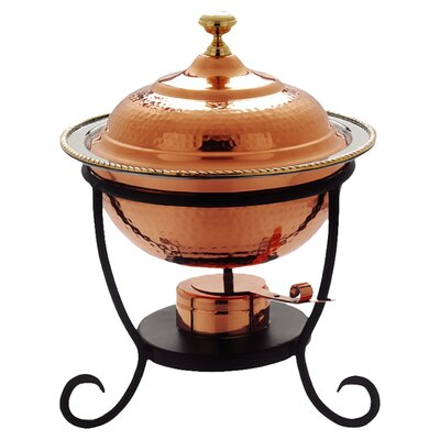 <strong>Old Dutch International</strong> Round Decor Copper Chafing Dish