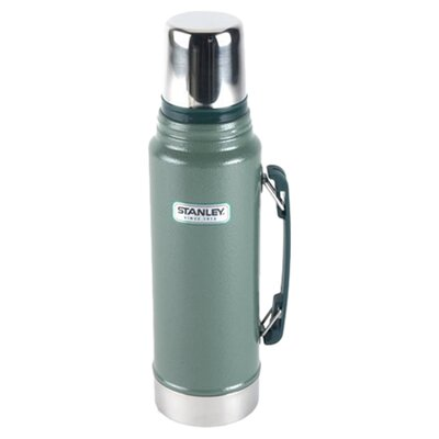 1 Quart Unbreakable Steel Thermos in Green