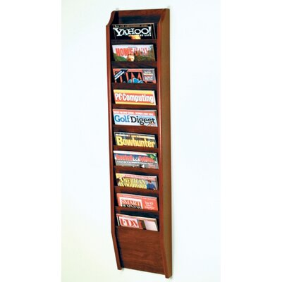 Wooden Mallet 10 Pocket Wall Mount Magazine Rack