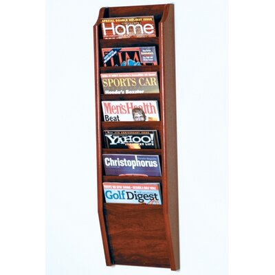 Wooden Mallet 7 Pocket Wall Mount Magazine Rack