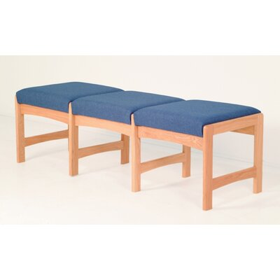 Wooden Mallet Dakota Wave Three Seat Bench