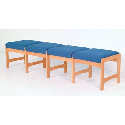 Wooden Mallet Dakota Wave Four Seat Bench
