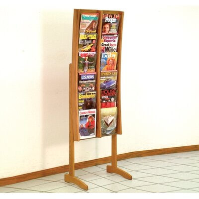 Wooden Mallet 12 Pocket Contemporary Floor Display