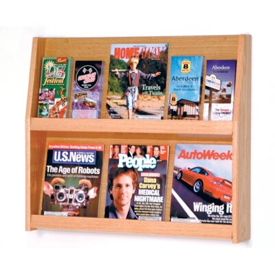 Wooden Mallet 6 Pocket Magazine / 12 Pocket Brochure Wall Display