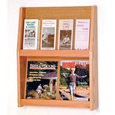 Wooden Mallet 4 Pocket Magazine / 8 Pocket Brochure Wall Display