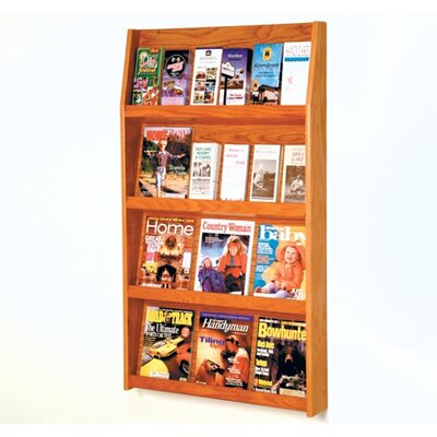 Wooden Mallet Twelve Magazine and Twenty Four Brochure Wall Display with Optional Floor Stand