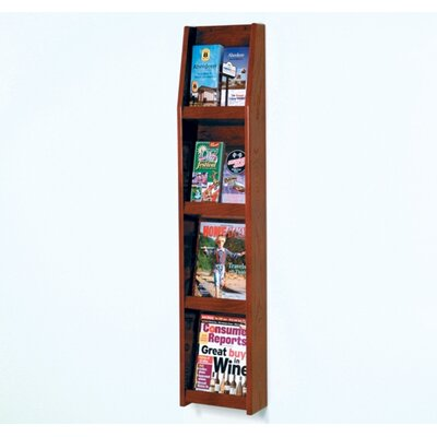 Wooden Mallet Four Magazine and Eight Brochure Wall Display with Optional Floor Stand