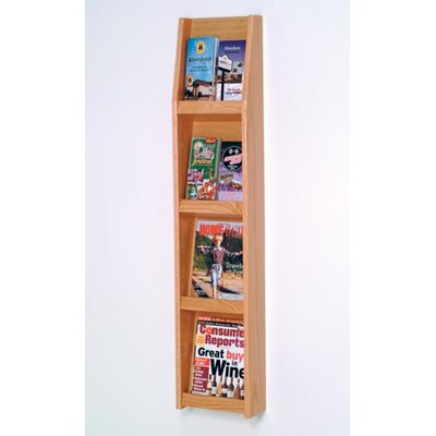Wooden Mallet 4 Pocket Magazine / 8 Pocket Brochure Wall Display