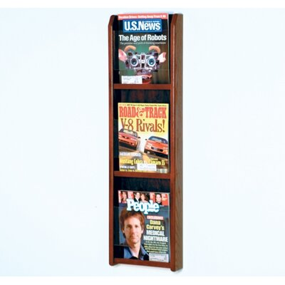Wooden Mallet Three Magazine Oak and Acrylic Wall Display