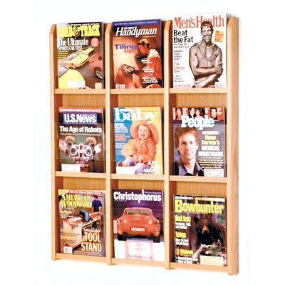 Wooden Mallet 9 Pocket Magazine Wall Display