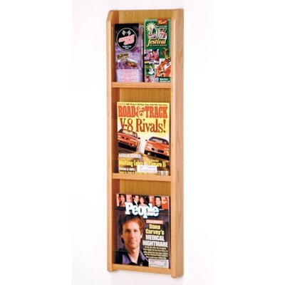 Wooden Mallet 3 Pocket Magazine / 6 Pocket Brochure Wall Display