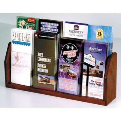 Wooden Mallet Countertop 8 Pocket Brochure Display
