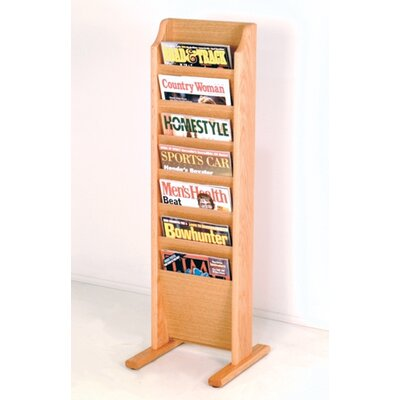 Wooden Mallet 7 Pocket Free Standing Magazine Rack